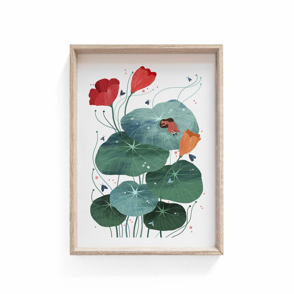 Nasturtium Illustration Print - Illustration - Hello Grimes - Totem Store