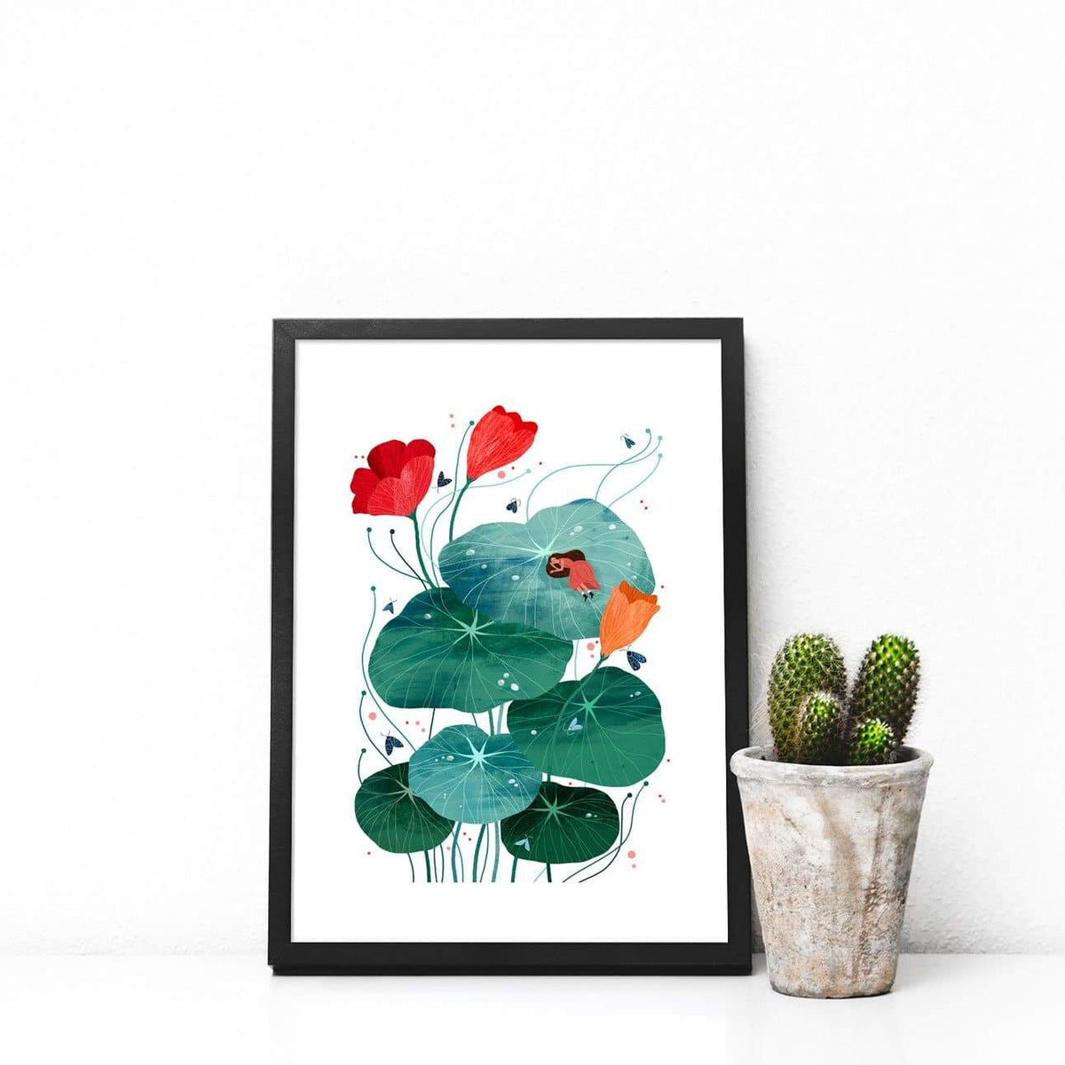 Nasturtium Illustration Print-Illustration-Hello Grimes-A4-Totem Store