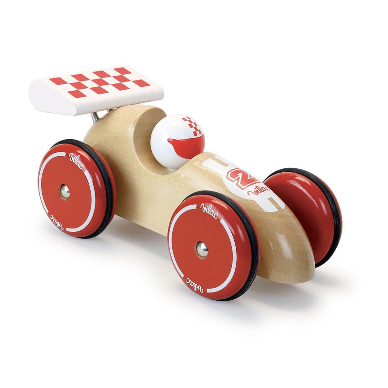 Natural Wood Extra large Racing car - Car Toy - Vilac - Totem Store