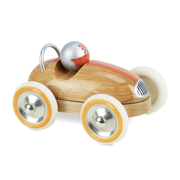 Natural Wood Vintage Roadster Car-Car Toy-Vilac-Totem Store