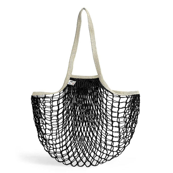 Net Shopping Bag-Shopping Bag-Filt-Black & Beige Handles-Totem Store