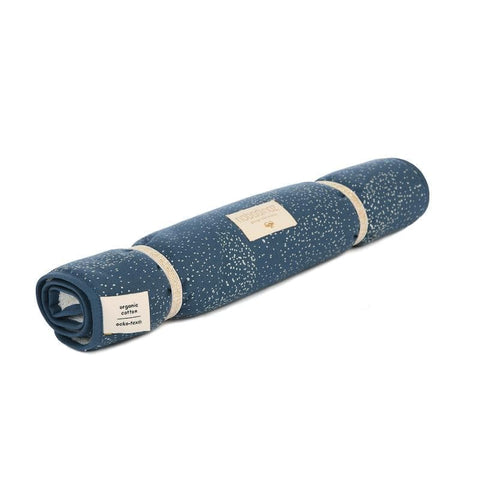 Nomad changing pad-Changing Mat-Nobodinoz-Gold Bubble Night Blue-Totem Store