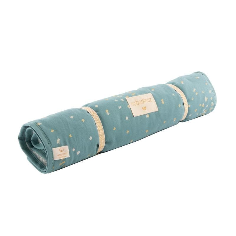 Nomad changing pad-Changing Mat-Nobodinoz-Gold Confetti Magic Green-Totem Store