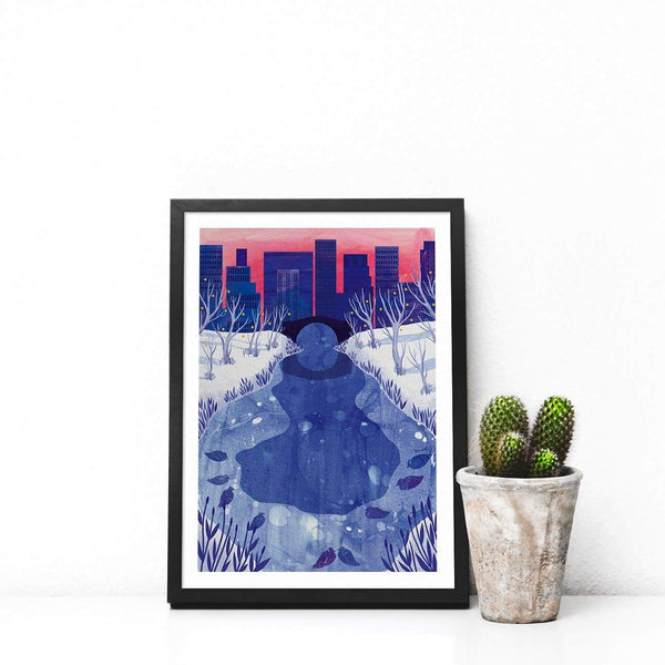 NYC Illustration Print-Illustration-Hello Grimes-A4-Totem Store