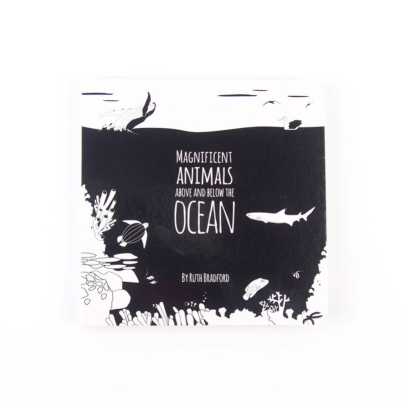 Ocean Animals - Baby Book - Black & White Book Project - Totem Store