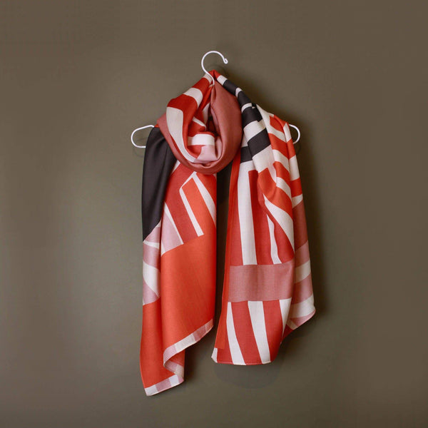 Onrique Coral Scarf-Scarf-Mapoésie-Totem Store