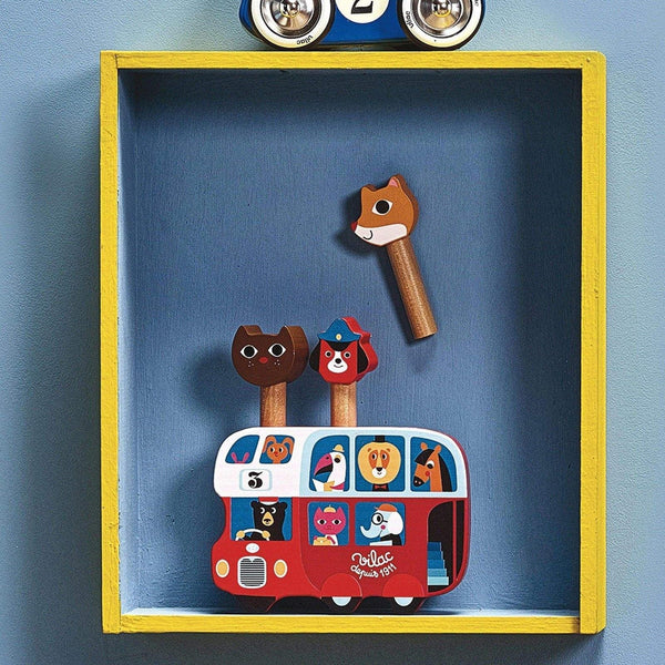 Pop-up bus by Ingela P.Arrhenius-Learning Toy-Vilac-Totem Store