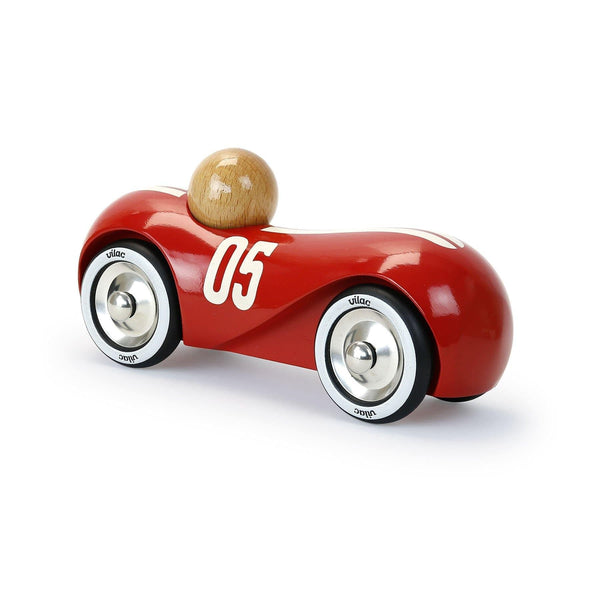 Red vintage streamline car-Car Toy-Vilac-Totem Store
