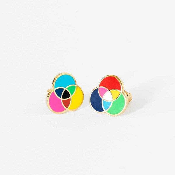 RGB & CMYK Earrings-Studs Earrings-Yellow Owl Workshop-Totem Store