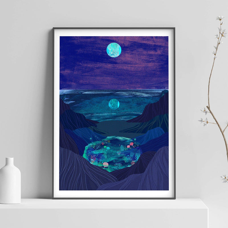 Rockpools Illustration Print - Illustration - Hello Grimes - Totem Store