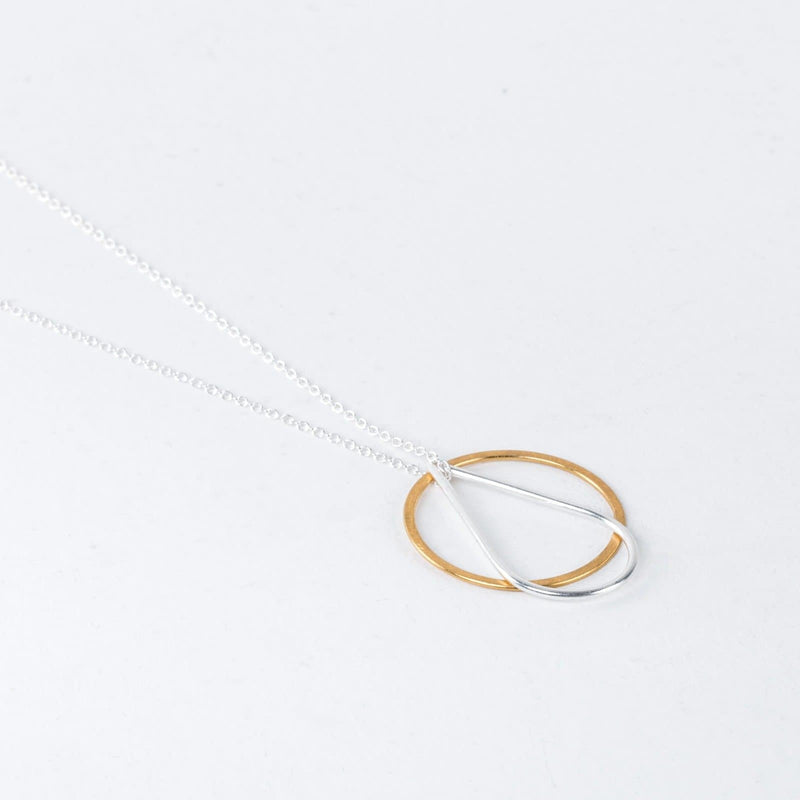 Silver and Gold Celeste Necklace-Pendant-One & Eight-Totem Store