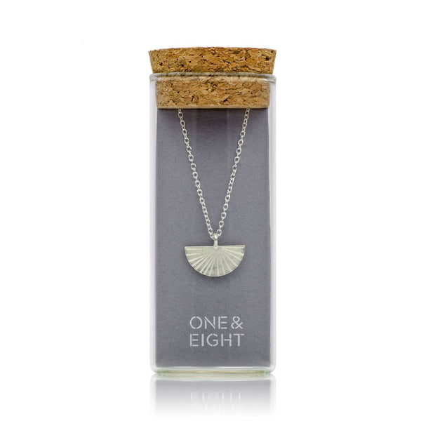 Silver Fan Necklace-Pendant-One & Eight-Totem Store