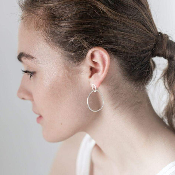 Silver Halo Hoops-Hoop Earrings-One & Eight-Totem Store