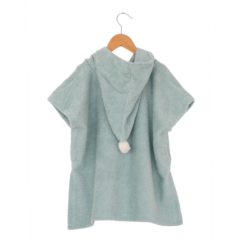So Cute poncho-Towel-Nobodinoz-Green-Totem Store