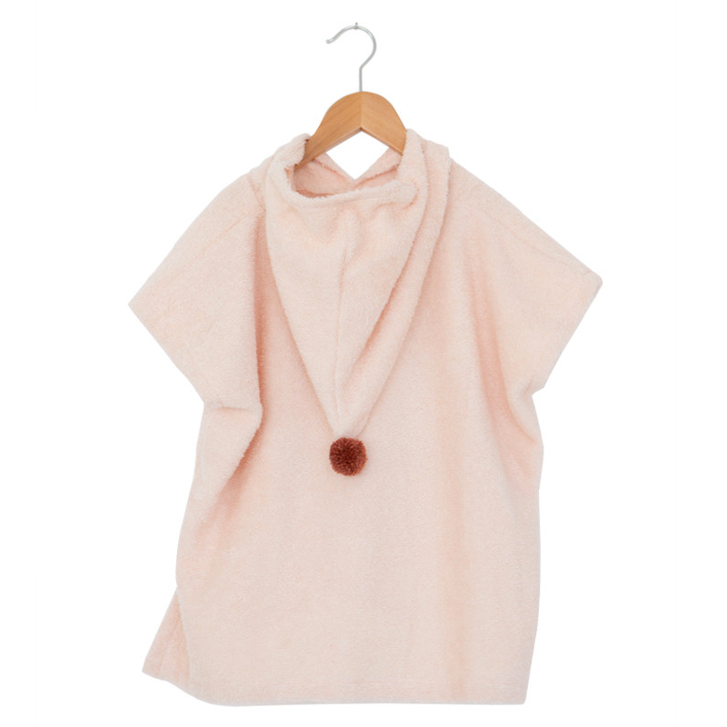 So Cute poncho-Towel-Nobodinoz-Pink-Totem Store