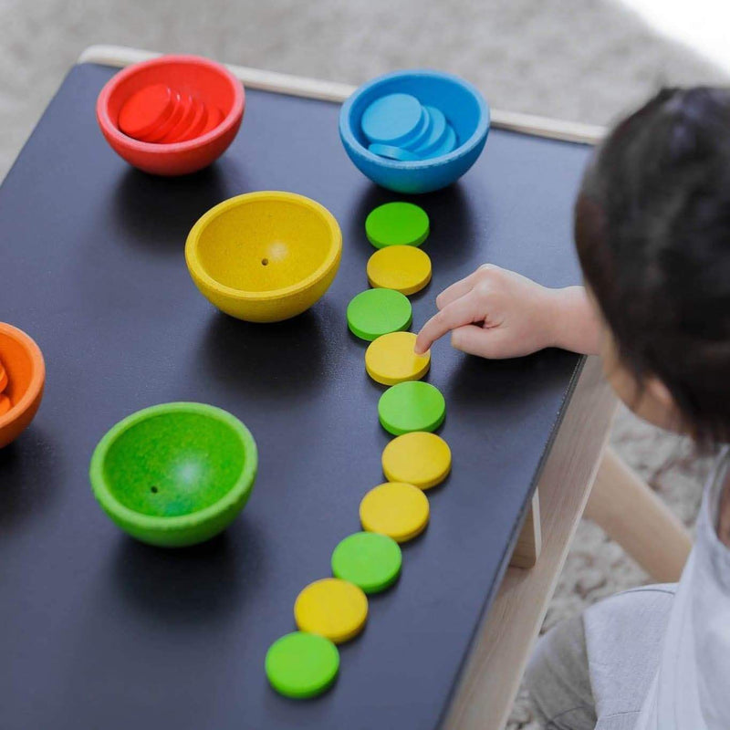 Sort & Count Cups - Learning Toy - Plan Toys - Totem Store