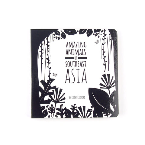 Southeast Asia Animals-Baby Book-Black & White Book Project-Totem Store