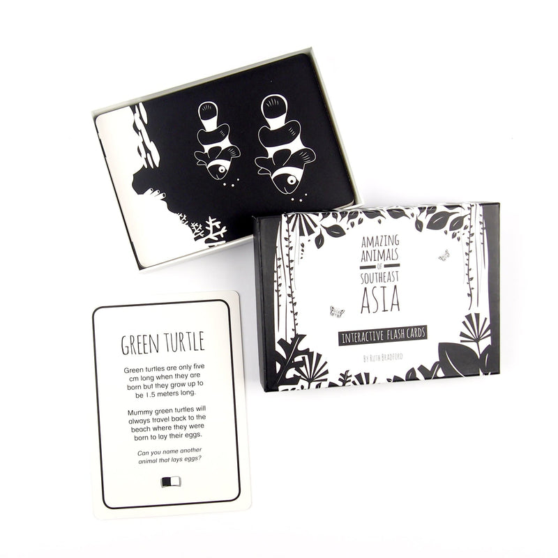Southeast Asia Animals - Flash Cards - Black & White Book Project - Totem Store