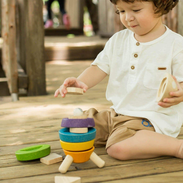 Stacking Rocket-Learning Toy-Plan Toys-Stacking Rocket-Totem Store
