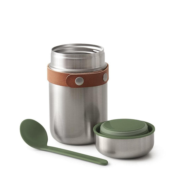 Stainless Steel Food Flask-Food Flask-Black+Blum-Olive-Totem Store