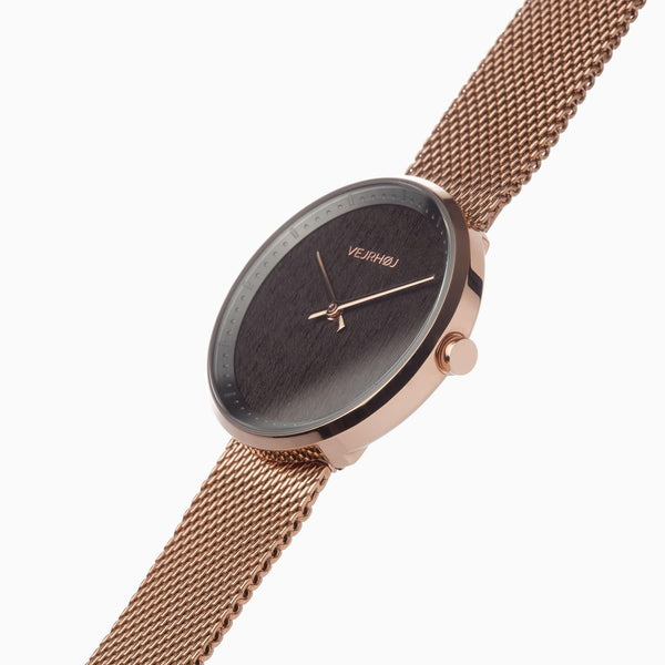 Stella - Rose Gold & Walnut Wood Watch-Watch-VEJRHØJ-Totem Store