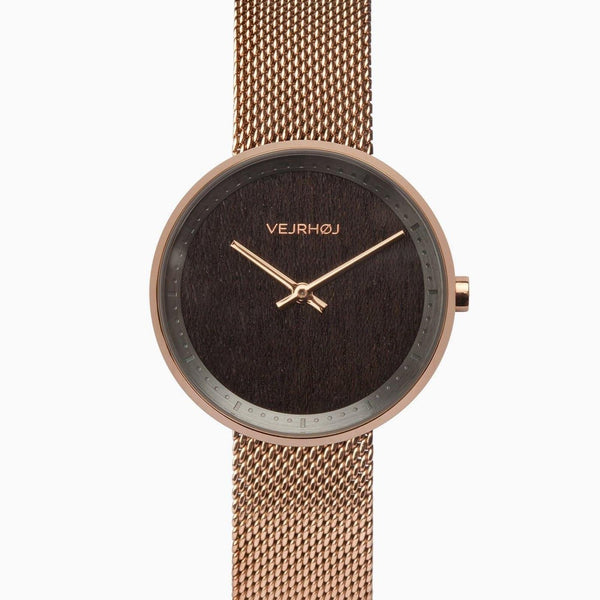 Stella - Rose Gold & Walnut Wood Watch - Watch - VEJRHØJ - Totem Store