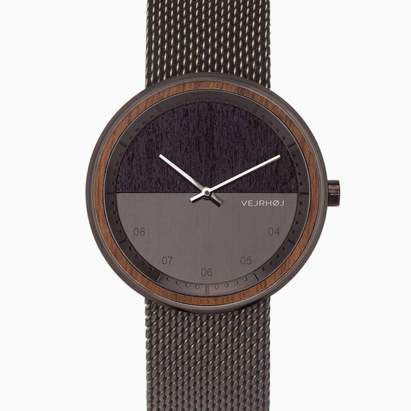 The Gun - Gunmetal & Walnut Wood Watch - Watch - VEJRHØJ - Totem Store