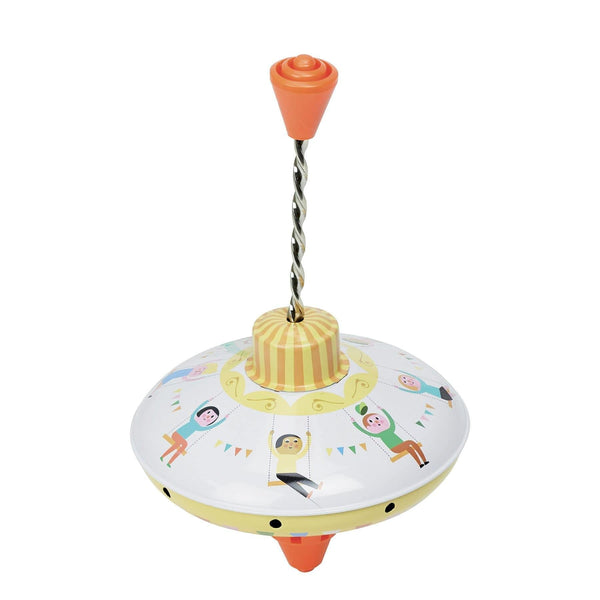 Tin spintop carousel by Ingela P.Arrhenius-Activity Toy-Vilac-Totem Store