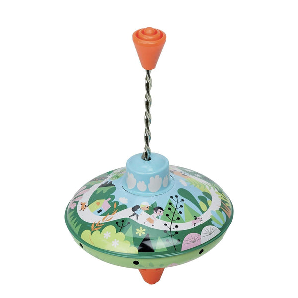 Tin spintop Woods by Ingela P.Arrhenius - Activity Toy - Vilac - Totem Store