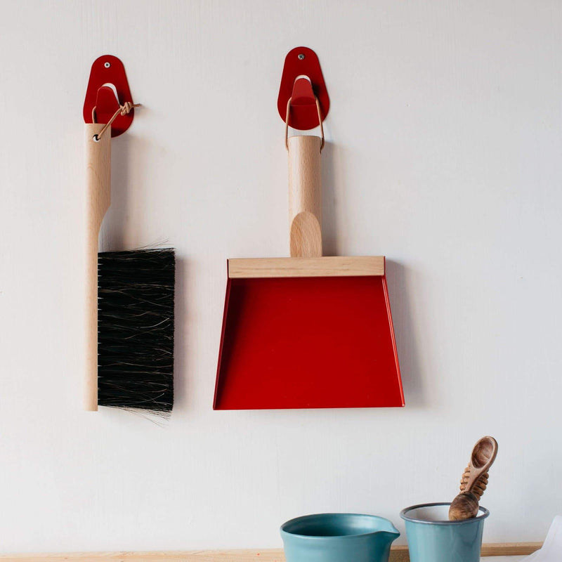 Traditional Dustpan & Brush-Sweeping Brush-Andrée Jardin-Red-Totem Store