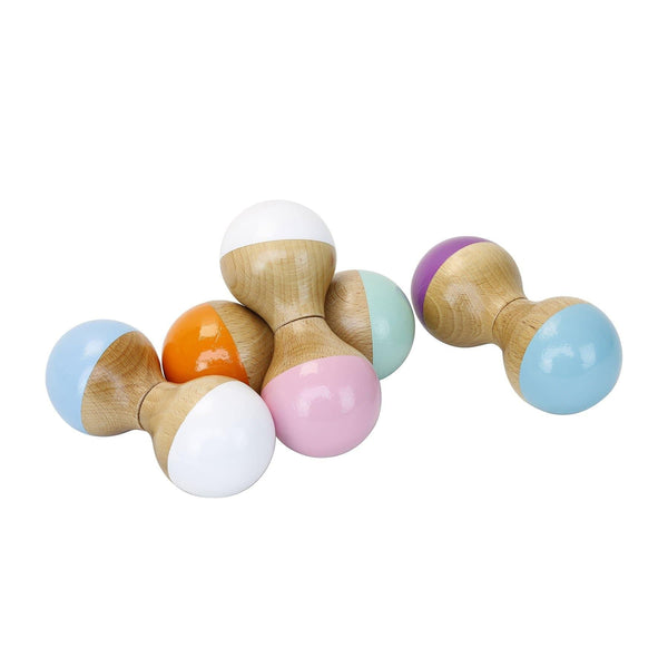 White and pink rattle maracas-Maracas-Vilac-Totem Store