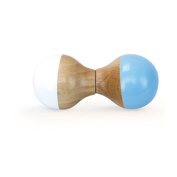 White and sky blue rattle maracas - Maracas - Vilac - Totem Store