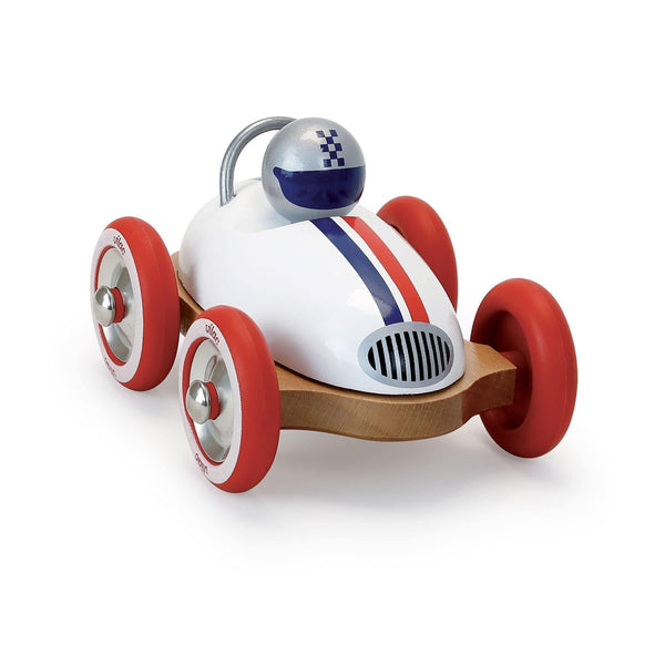 White Vintage Roadster Car-Car Toy-Vilac-Totem Store
