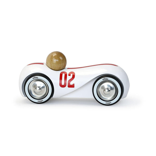 White vintage streamline car - Car Toy - Vilac - Totem Store
