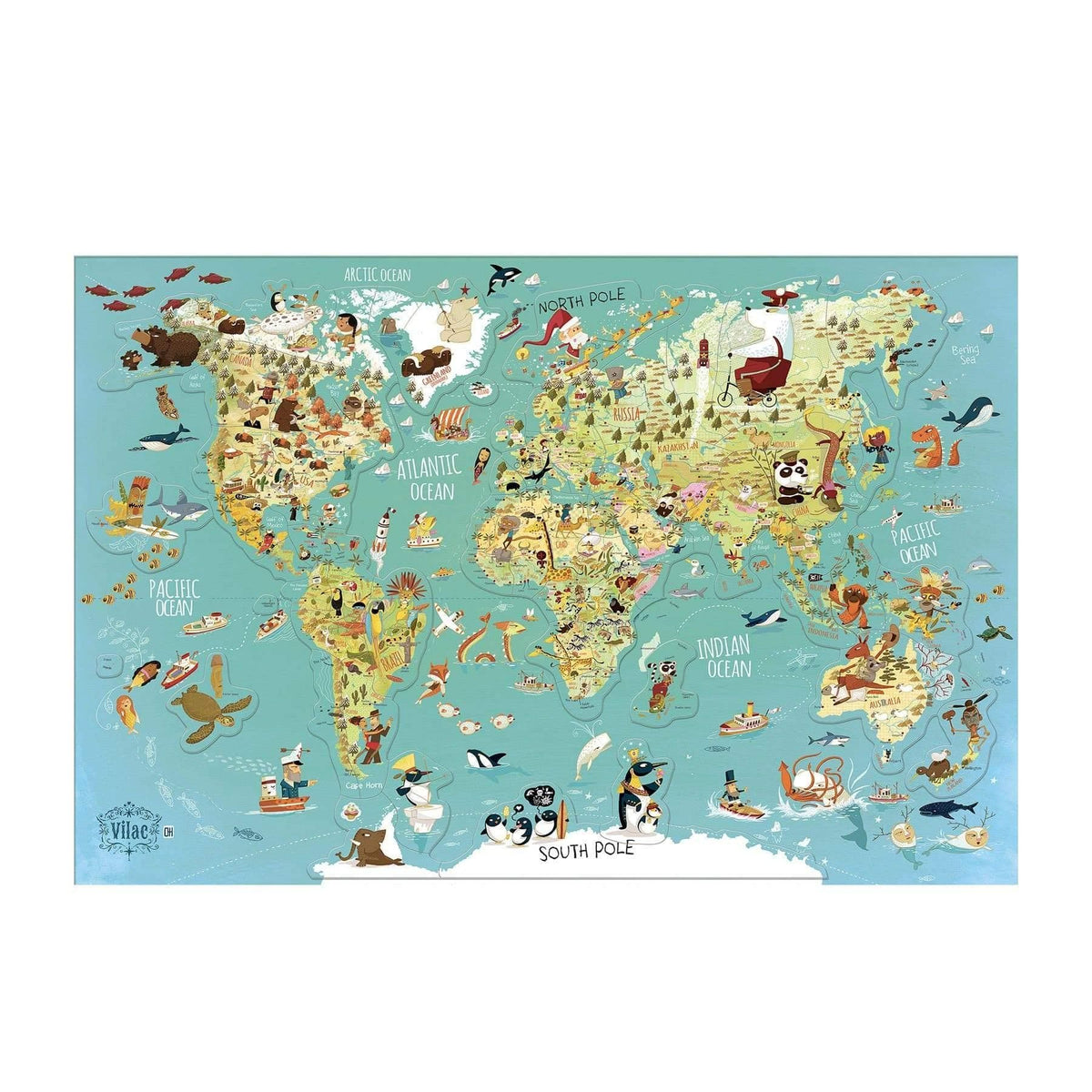 World magnetic map-Puzzle-Vilac-Totem Store