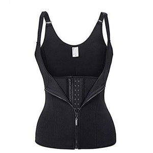 Waist Corset Zipper Body Shapewear Suit with Adjustable Straps