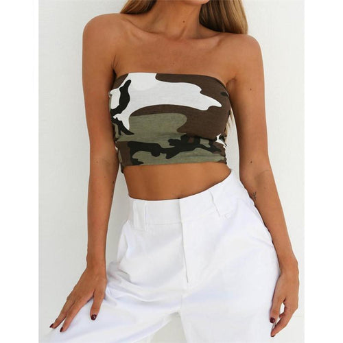 Camo Crop Top - bluepier