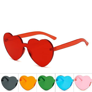 Love Heart Shaped Festival 90s Sunglasses - bluepier