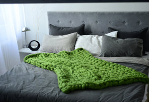 Oversize Knitted Throw/Blanket. 17 Colours - bluepier