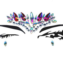 Load image into Gallery viewer, Temporary Crystal Face Tattoo Stickers. 3D Glitter Face Gems. - bluepier