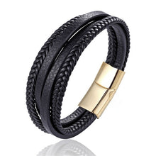 Load image into Gallery viewer, Men's Multi-layer Handmade Leather Bracelet - bluepier