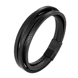 Men's Multi-layer Handmade Leather Bracelet - bluepier