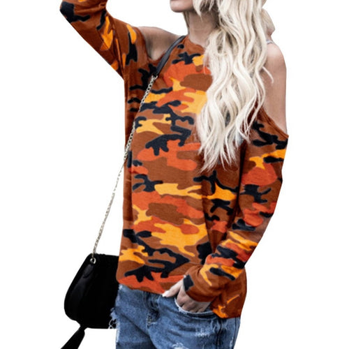 Camo Drop-Shoulder Top - bluepier