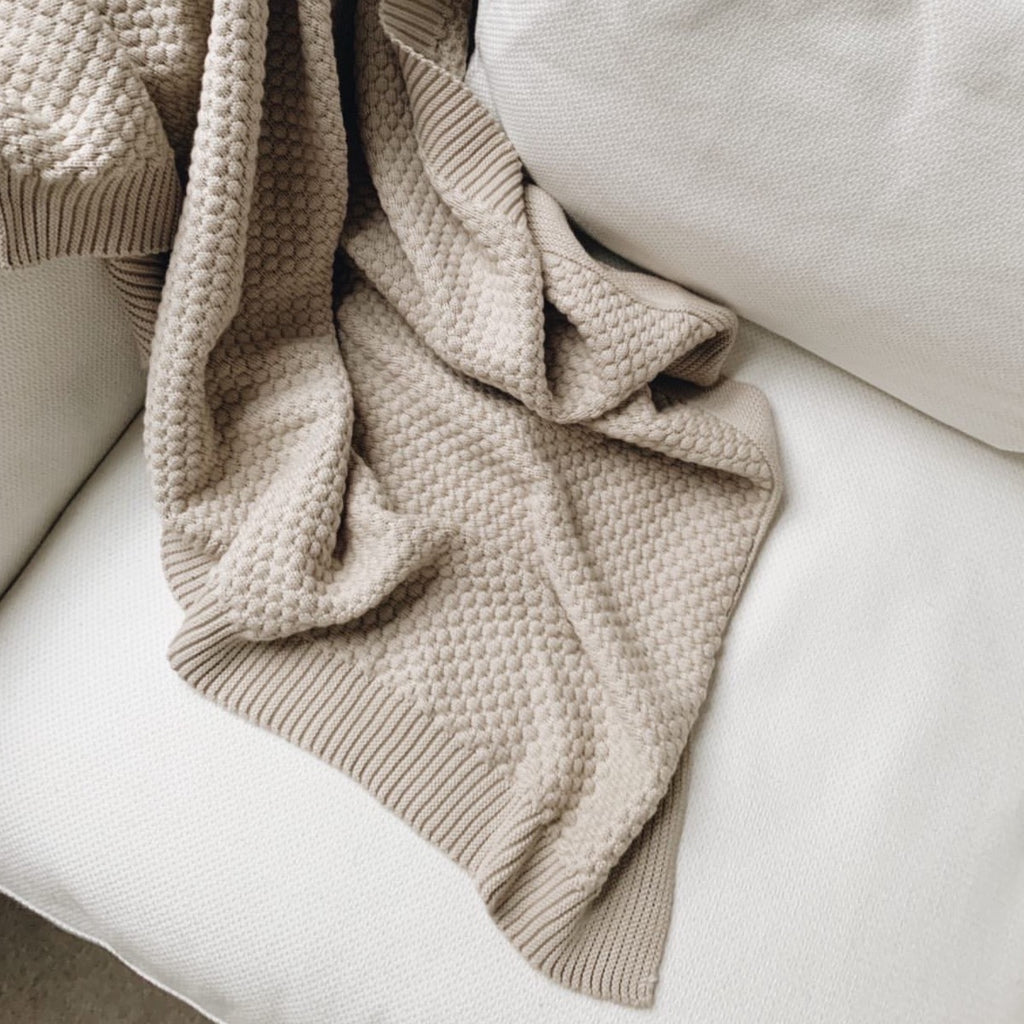 Blanket - Beige - Isaac Anthony