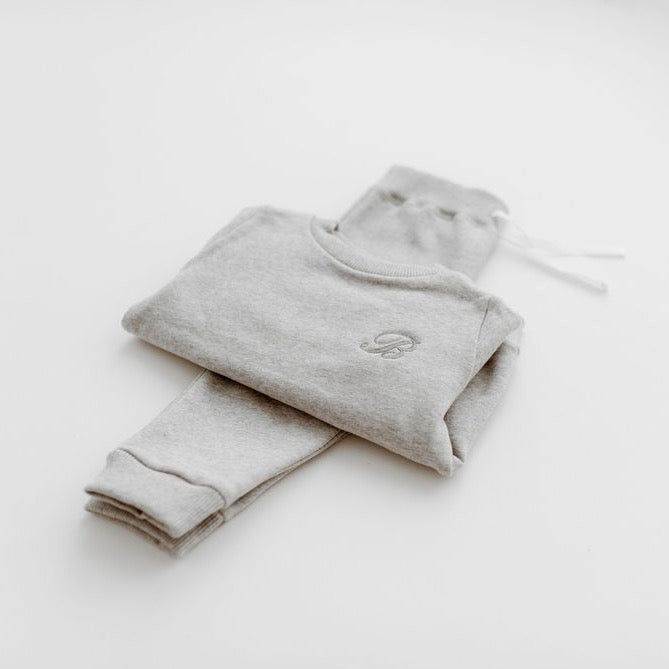 Grey Marl Sweater & Jogger Set - Isaac Anthony