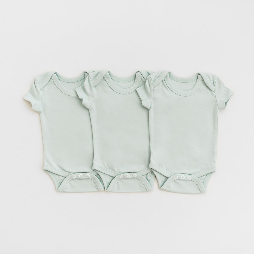 3 Bodysuits - Light Blue - Isaac Anthony