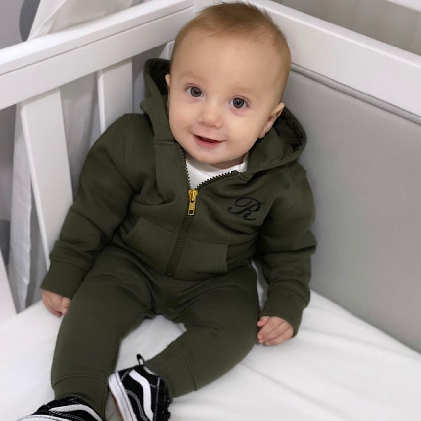Hooded Jogger Set - Dusty Olive - Isaac Anthony