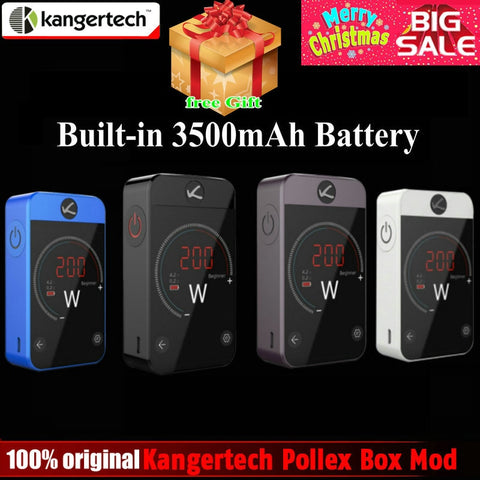 Original Kangertech Kanger Pollex Box Mod 230W Vape Mod Built-in 3500mAh Battery 2.4 inch Touch Screen for 510 Thread RTA Tank