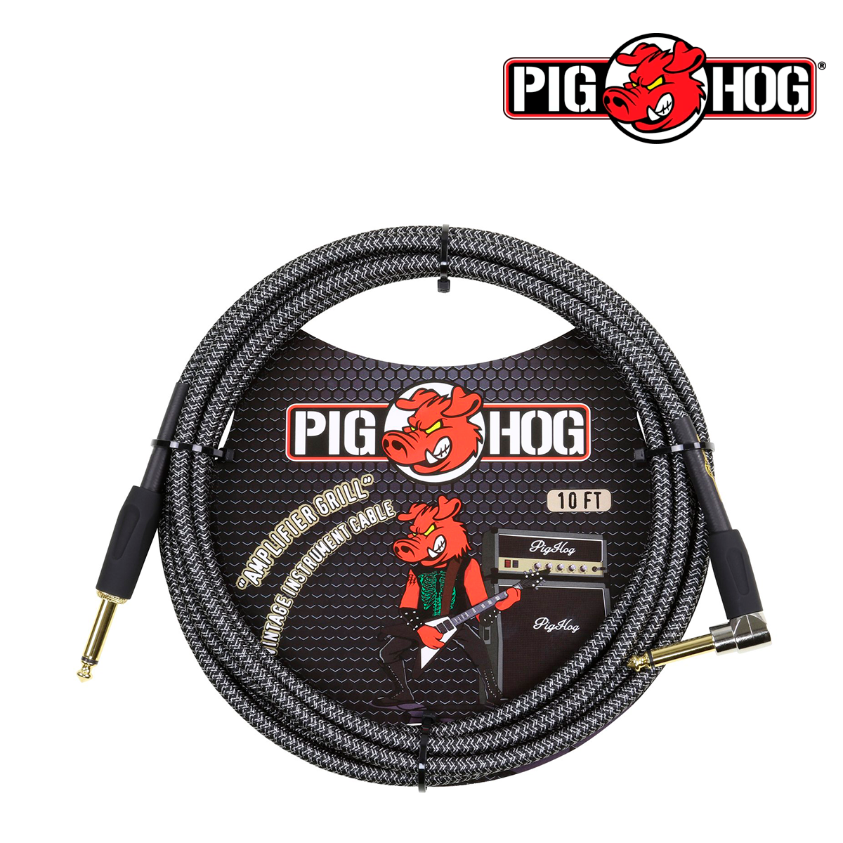 "CABLE P/INST AMPLIFIER GRILL 3.05 MT 1/4""-1/4"" ANG RECTO PIGHOG"
