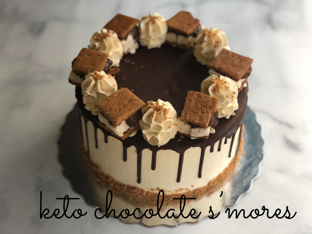 #KETO S'Mores Celebration Cake